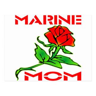 USMC Marine Mom Rose Postcard