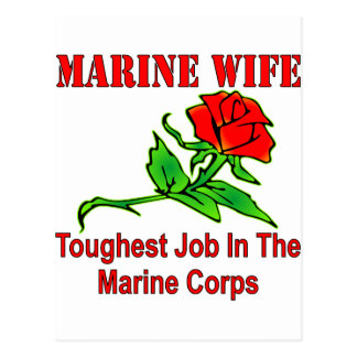 USMC Marine Wife Toughest Job In The Marine Corps Postcard