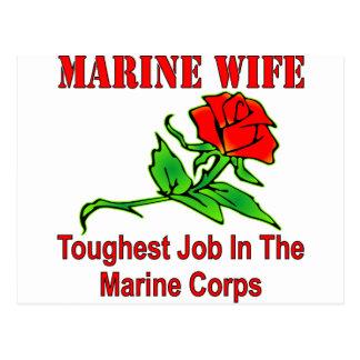 USMC Marine Wife Toughest Job In The Marine Corps Postcard