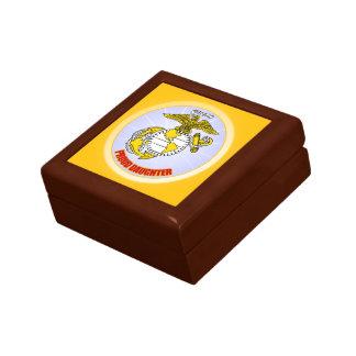 USMC Proud Daughter Small Square Gift Box