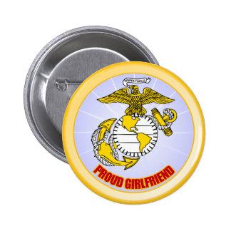USMC Proud Girlfriend 6 Cm Round Badge
