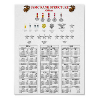 USMC RANK STRUCTURE POSTER