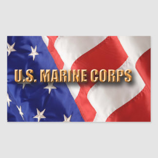 USMC Rectangle Stickers