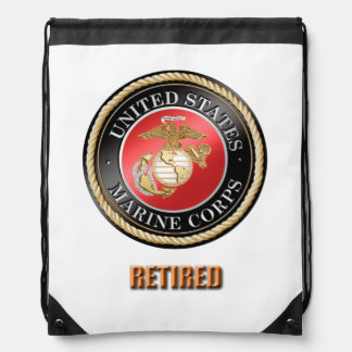 USMC Retired Drawstring Backpack