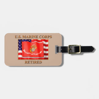 USMC Retired Luggage Tag