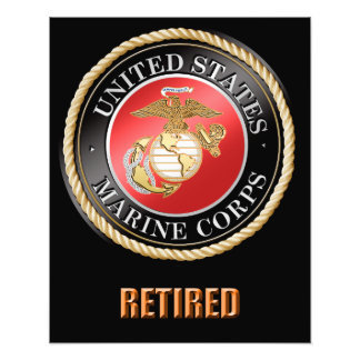 USMC Retired Photo Enlargement
