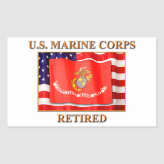 USMC Retired Stickers