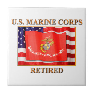 USMC Retired Tile