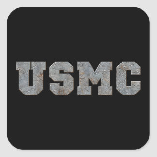 USMC [rusty text] Square Sticker