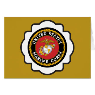 USMC Seal Emblem Card