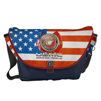 USMC Semper Fi [3D] Courier Bag