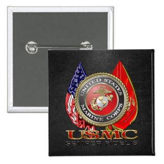 USMC Semper Fi [Special Edition] [3D] 15 Cm Square Badge