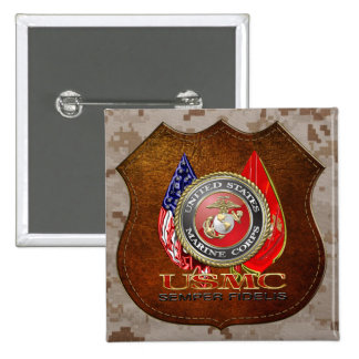 USMC Semper Fi [Special Edition] [3D] 15 Cm Square Badge