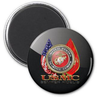 USMC Semper Fi [Special Edition] [3D] 6 Cm Round Magnet