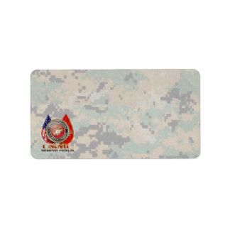 USMC Semper Fi [Special Edition] [3D] Address Label