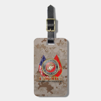 USMC Semper Fi Special Edition 3D Luggage Tag