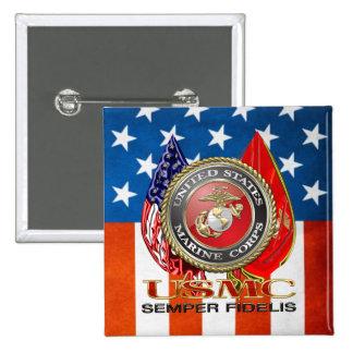 USMC Semper Fi Special Edition 3D Pinback Buttons