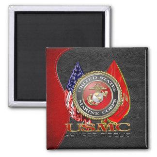USMC Semper Fi [Special Edition] [3D] Square Magnet