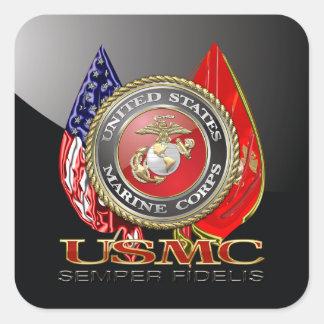 USMC Semper Fi [Special Edition] [3D] Square Sticker