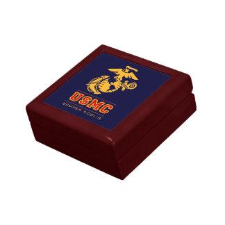 USMC Semper Fidelis [Semper Fi] Small Square Gift Box