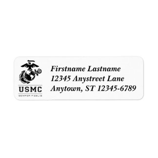 USMC Semper Fidelis [Semper Fi] Return Address Label
