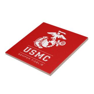USMC Semper Fidelis [Semper Fi] Small Square Tile