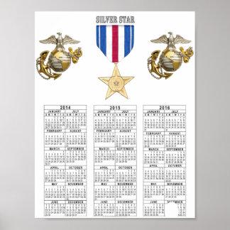 USMC SILVER STAR POSTER