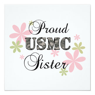 USMC Sister [fl camo] Card