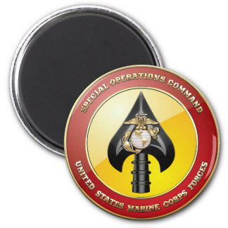 USMC Special Operations Command (MARSOC) [3D] 6 Cm Round Magnet