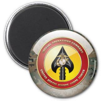 USMC Special Operations Command (MARSOC) [3D] 6 Cm Round Magnet