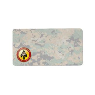 USMC Special Operations Command (MARSOC) [3D] Address Label