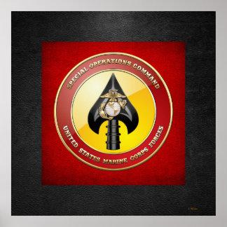 USMC Special Operations Command (MARSOC) [3D] Poster