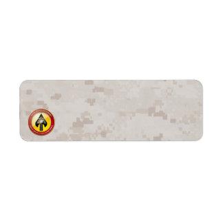 USMC Special Operations Command (MARSOC) [3D] Return Address Label