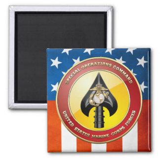 USMC Special Operations Command (MARSOC) [3D] Square Magnet