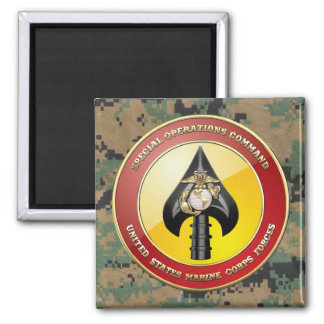 USMC Special Operations Command (MARSOC) [3D] Square Magnet