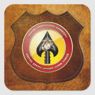 USMC Special Operations Command (MARSOC) [3D] Square Sticker