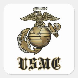 USMC SQUARE STICKER