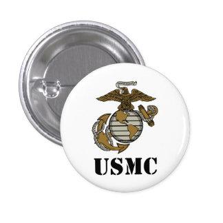 USMC [stencil] 3 Cm Round Badge