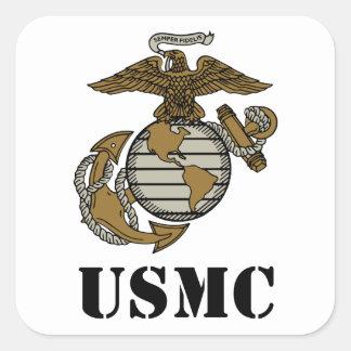 USMC [stencil] Square Sticker