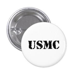 USMC [stencil text] 3 Cm Round Badge
