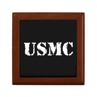 USMC [stencil text] Small Square Gift Box