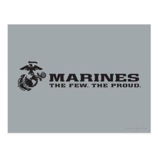USMC The Few The Proud Logo - Black Postcard