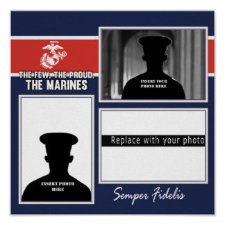 USMC The Few The Proud Photo Collage Poster
