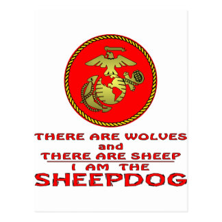 USMC There Are Wolves And There Are Sheep Postcards