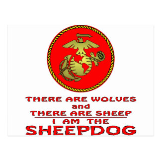 USMC There Are Wolves And There Are Sheep Postcard