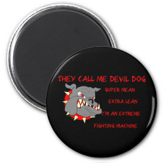 USMC They Call Me Devil Dog 6 Cm Round Magnet