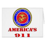 USMC United States Marine Corps America's 911 Greeting Card