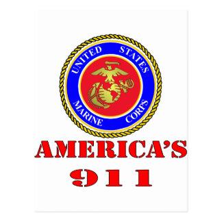 USMC United States Marine Corps America's 911 Postcard