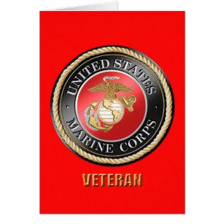 USMC Veteran Greeting Card