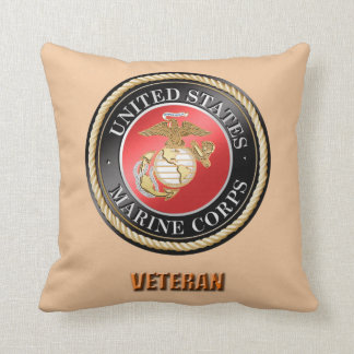 USMC Veteran Throw Pillow